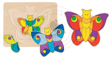 Puzzle - Motylek - zabawki drewniane