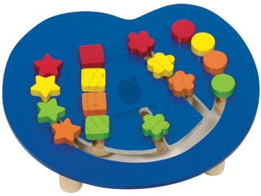 Kolorowa łamigłówka logiczna - układanie kuleczek - zabawki drewniane