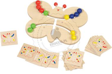 Łamigłówka motyl - logiczna zabawka - zabawka drewniana