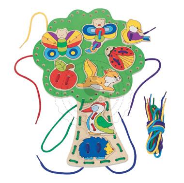 Nawlekanka drzewko - edukacyjna zabawka drewniana