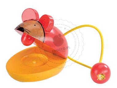 Drewniane kastaniety w kształcie myszki - zabawki drewniane