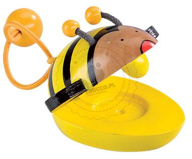 Drewniane kastaniety w kształcie pszczółki - zabawki drewniane