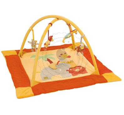 Mata edukacyjna słoń i lew - zabawki Moulin Roty