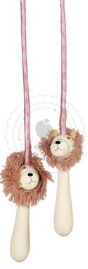 Kolorowa skakanka z lwem - zabawki drewniane