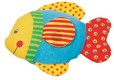 Grzechotka - niebieska rybka - zabawki dla niemowląt