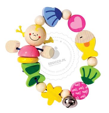 Bransoletka - syrenka - zabawki drewniane