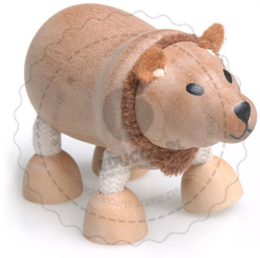 Figurka niedźwiedzia - zabawki drewniane Anamalz