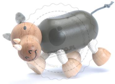 Figurka nosorożca - zabawki drewniane Anamalz