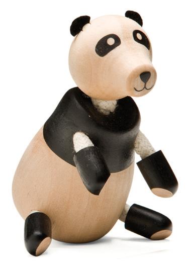 Figurka misia Panda - zabawki drewniane Anamalz