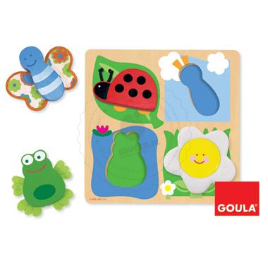 Puzzle - Wizyta na łące - zabawki edykacyjne