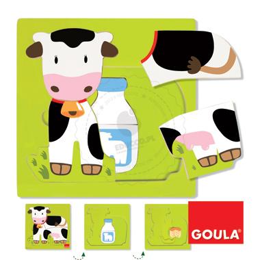 Puzzle - Od mleka do krówki - zabawki edukacyjne