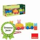 Zabawka do ciągania - Pociąg ze zwierzątkami - zabawki drewniane