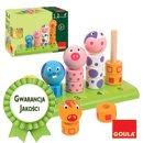 Układanka - Nauka liczenia i rozpoznawania zwierzątek  - zabawki drewniane