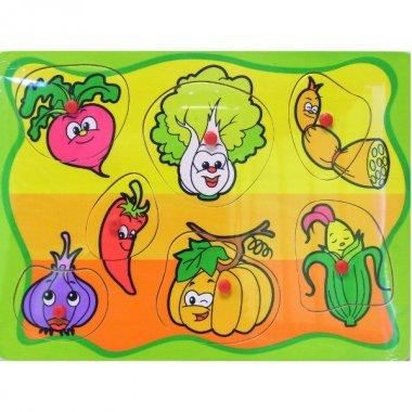 BRIMAREX puzzle drewniane Warzywa
