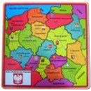 BRIMAREX Drewniana Mapa Polski