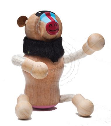 Figurka mandryla - zabawki drewniane Anamalz