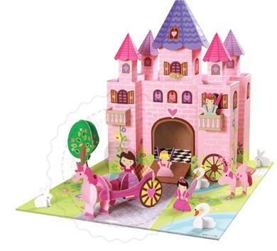 Zamek z bajki domki dla lalek z trwa ego kartonu krooom - Casitas de princesas ...