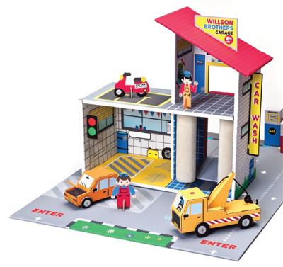 Garaż braci Willson - zabawka z trwałego kartonu Krooom