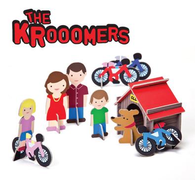 Ludziki the Krooomers - zabawka z trwałego kartonu Krooom