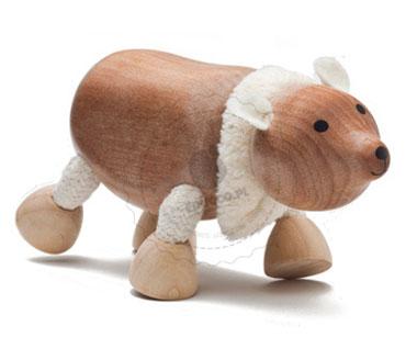Figurka niedźwiedzia polarnego - zabawki drewniane Anamalz