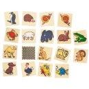 Memo gra pamięciowa - drewniane zabawki